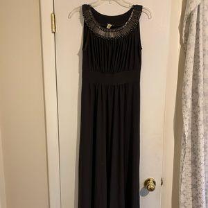 Floor length knit formal dress